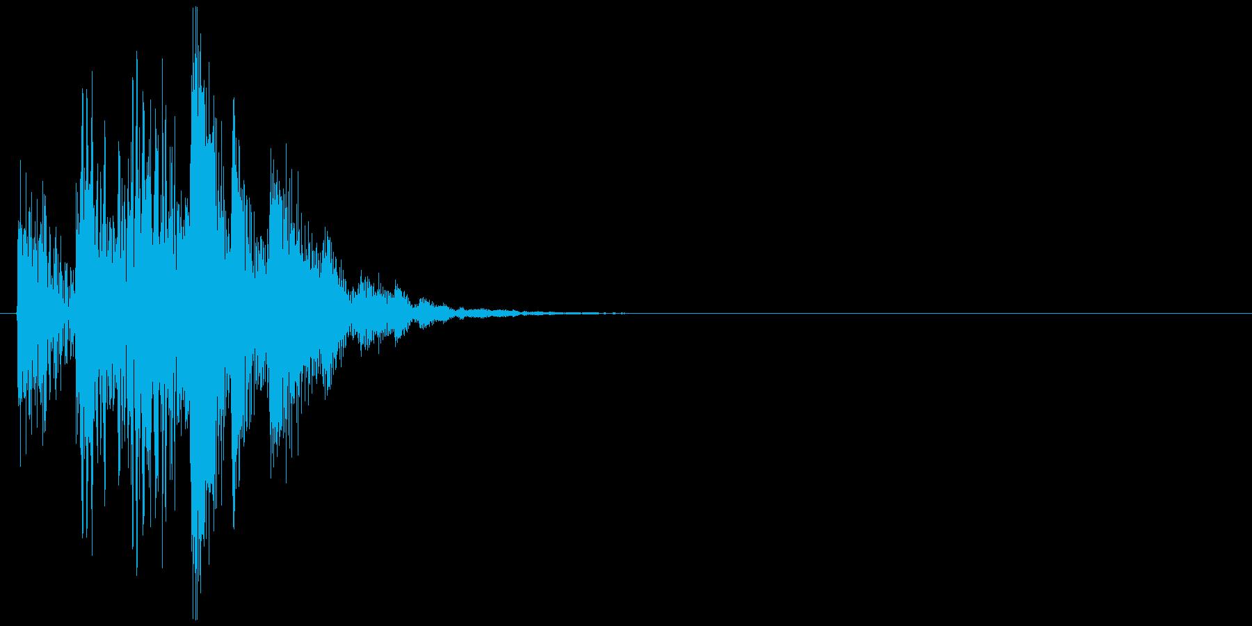 コンピューターの起動音のような効果音の再生済みの波形