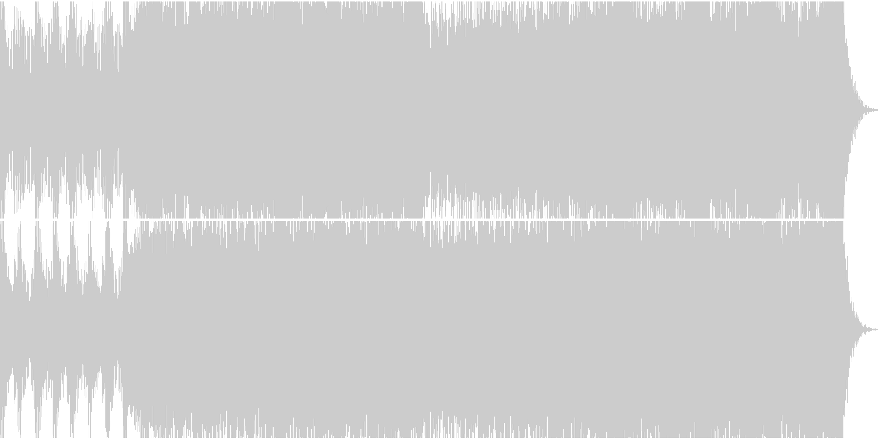 エンディングロールで流したいBGMの未再生の波形