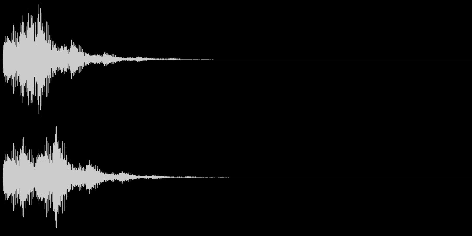 キララン(選択決定音、開始音)の未再生の波形