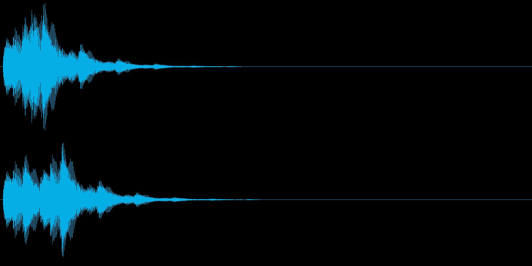 キララン(選択決定音、開始音)の再生済みの波形