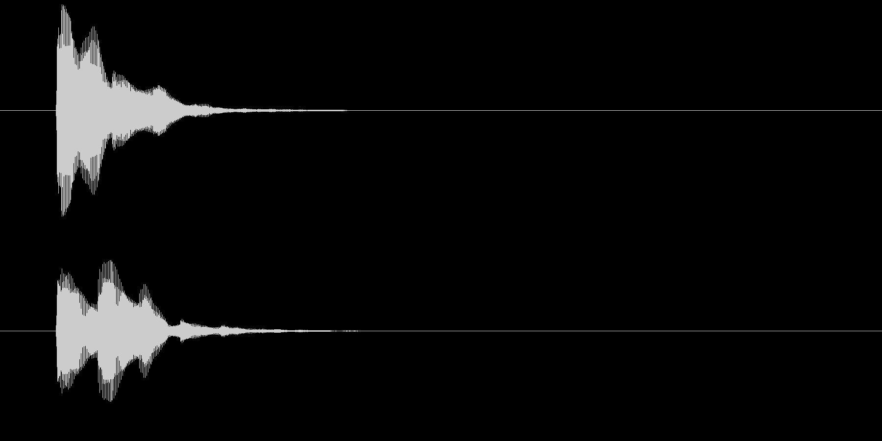 シンプルな決定音 ピコーン ゲームの未再生の波形