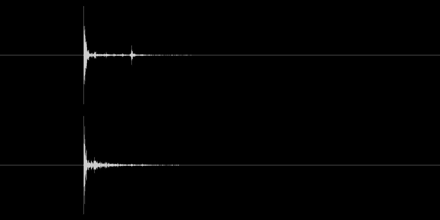 ソフトボールグローブ:キャッチ、ス...の未再生の波形