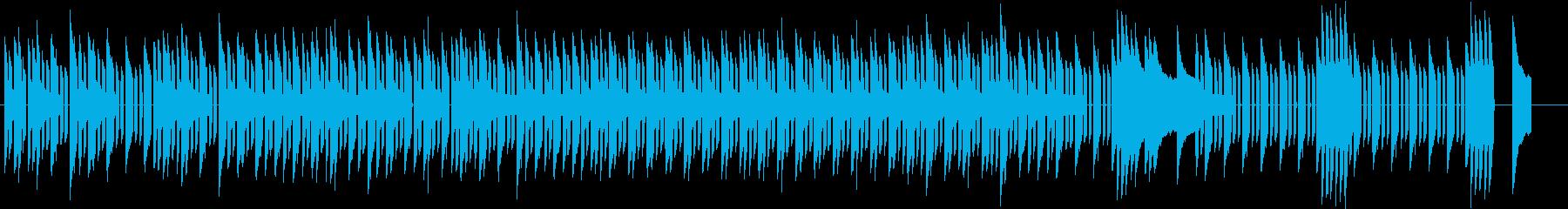 懐しいパズルゲームのチップチューンの再生済みの波形