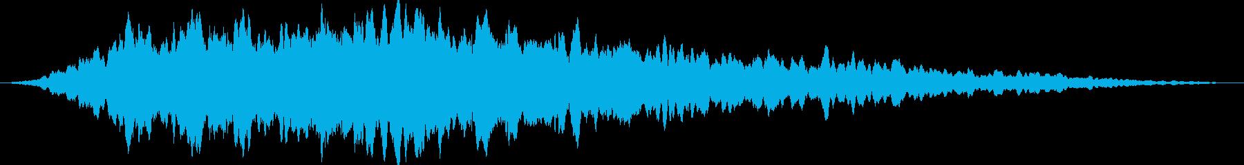 重低音のドローンの再生済みの波形