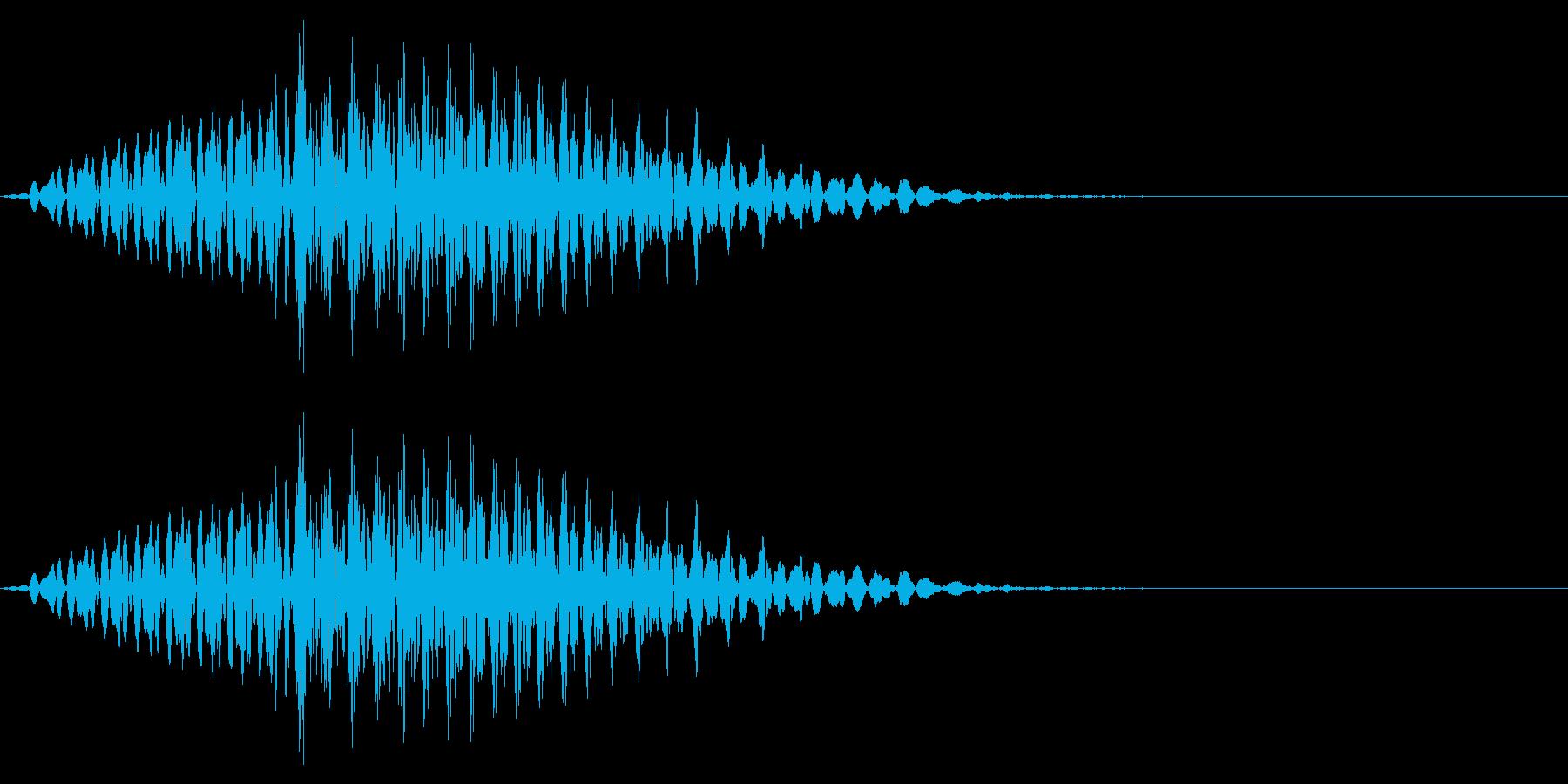 「ロン」 麻雀ゲームのシステムボイスにの再生済みの波形