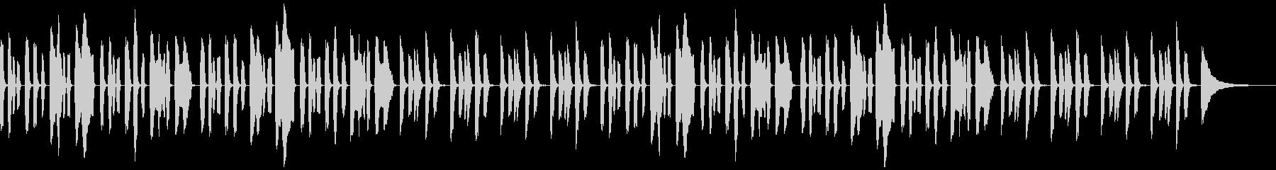YouTubeコミカルかわいいリコーダーの未再生の波形