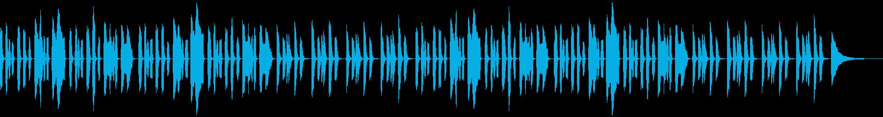 YouTubeコミカルかわいいリコーダーの再生済みの波形