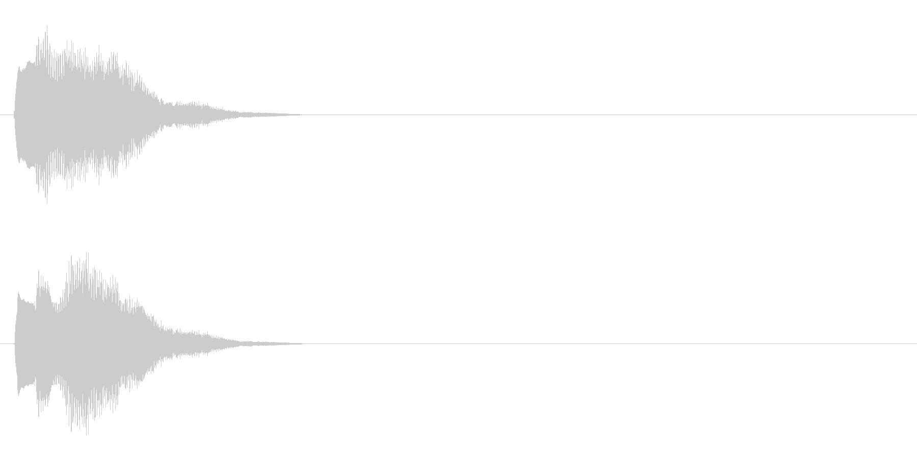 汎用 キラキラ系03(中) 決定音の未再生の波形