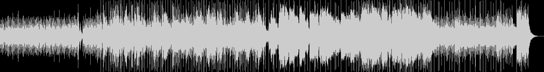 和楽器とドラムが融合した和風な3連符の曲の未再生の波形