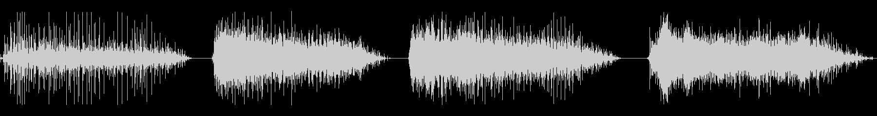 拍手、HUM OF VOICES、...の未再生の波形