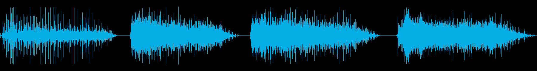 拍手、HUM OF VOICES、...の再生済みの波形