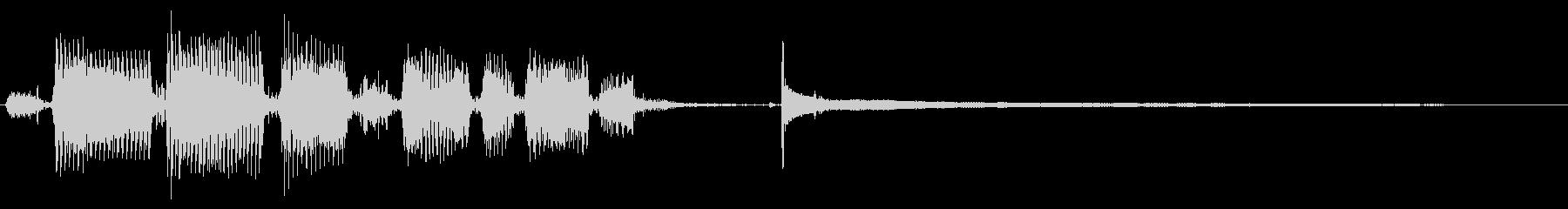 【エレキギター】クリーントーンの未再生の波形