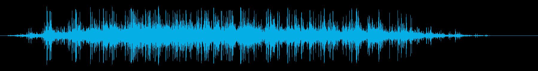 少人数の拍手の再生済みの波形