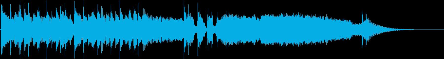 疾走感のあるギターロックのジングルの再生済みの波形