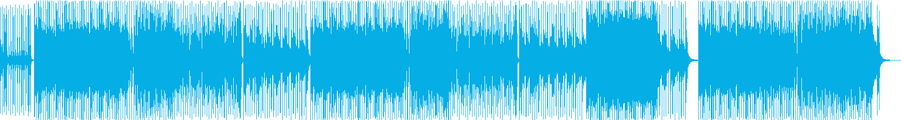 元気なイメージのポップインスト曲の再生済みの波形