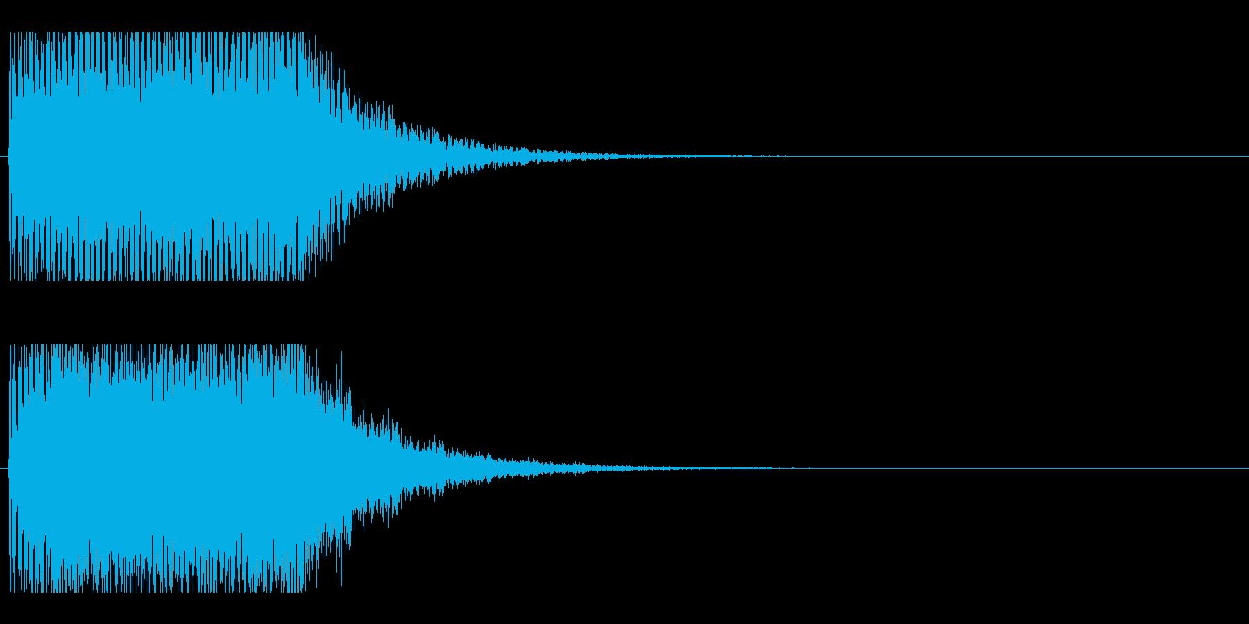 レーザー音-153-2の再生済みの波形
