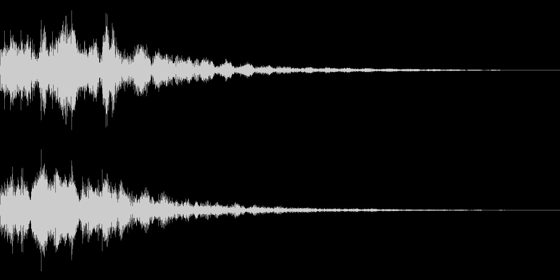 明るいテロップ音 ボタン音 決定音14bの未再生の波形