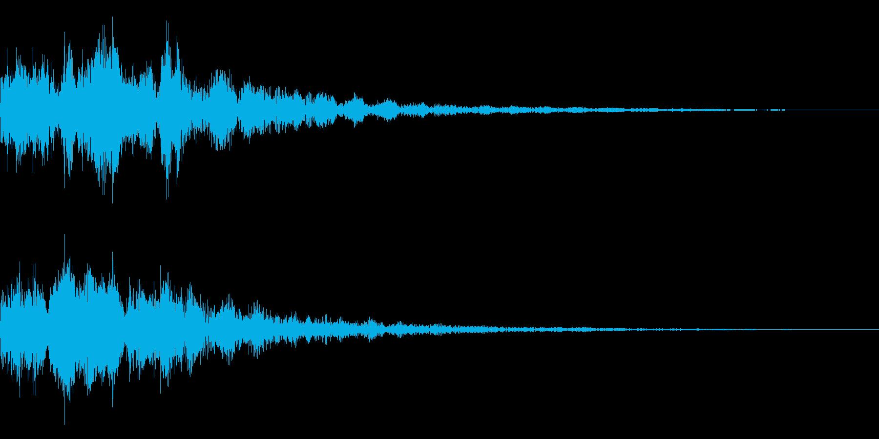 明るいテロップ音 ボタン音 決定音14bの再生済みの波形