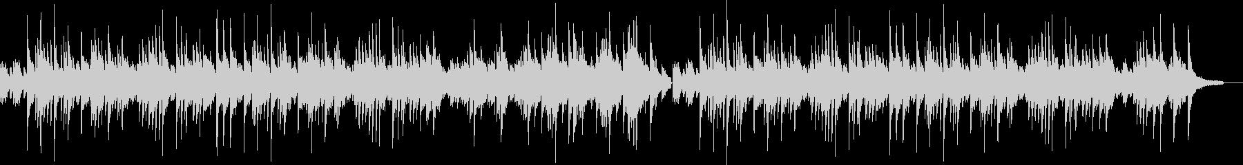 ゆったりとしたソロピアノのバラードの未再生の波形