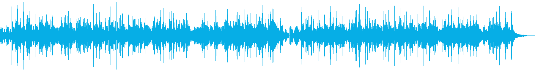 ゆったりとしたソロピアノのバラードの再生済みの波形
