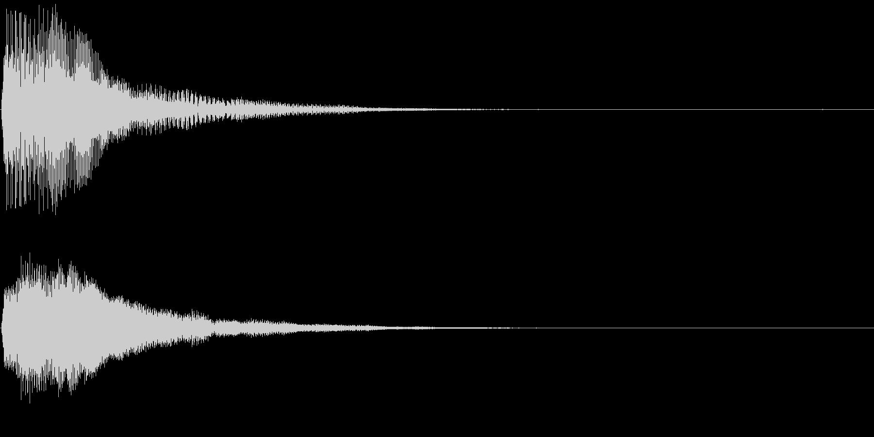 ファーン ポーン 変化 お知らせ 効果音の未再生の波形