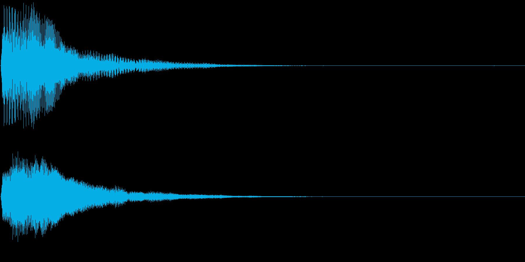 ファーン ポーン 変化 お知らせ 効果音の再生済みの波形