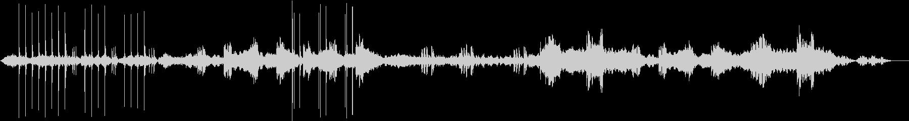 神聖な儀式の環境音楽の未再生の波形