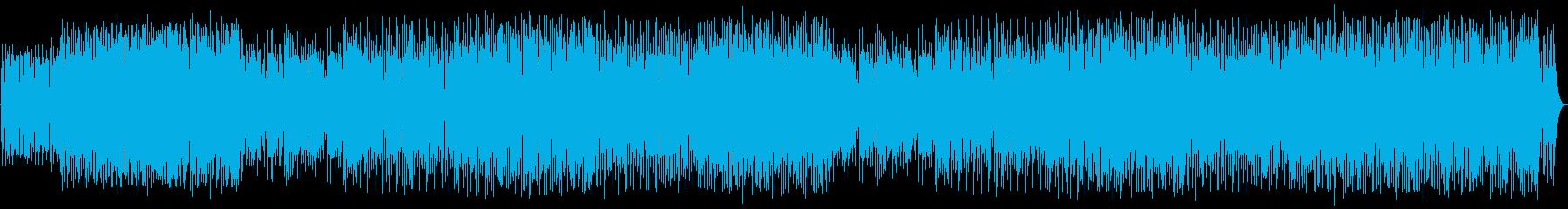 モダンなシンセサイザーパーツを駆使...の再生済みの波形