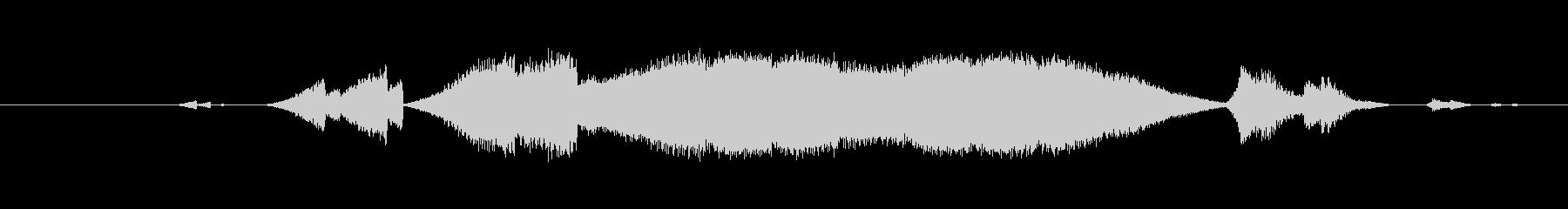 特撮 うねり確認03の未再生の波形