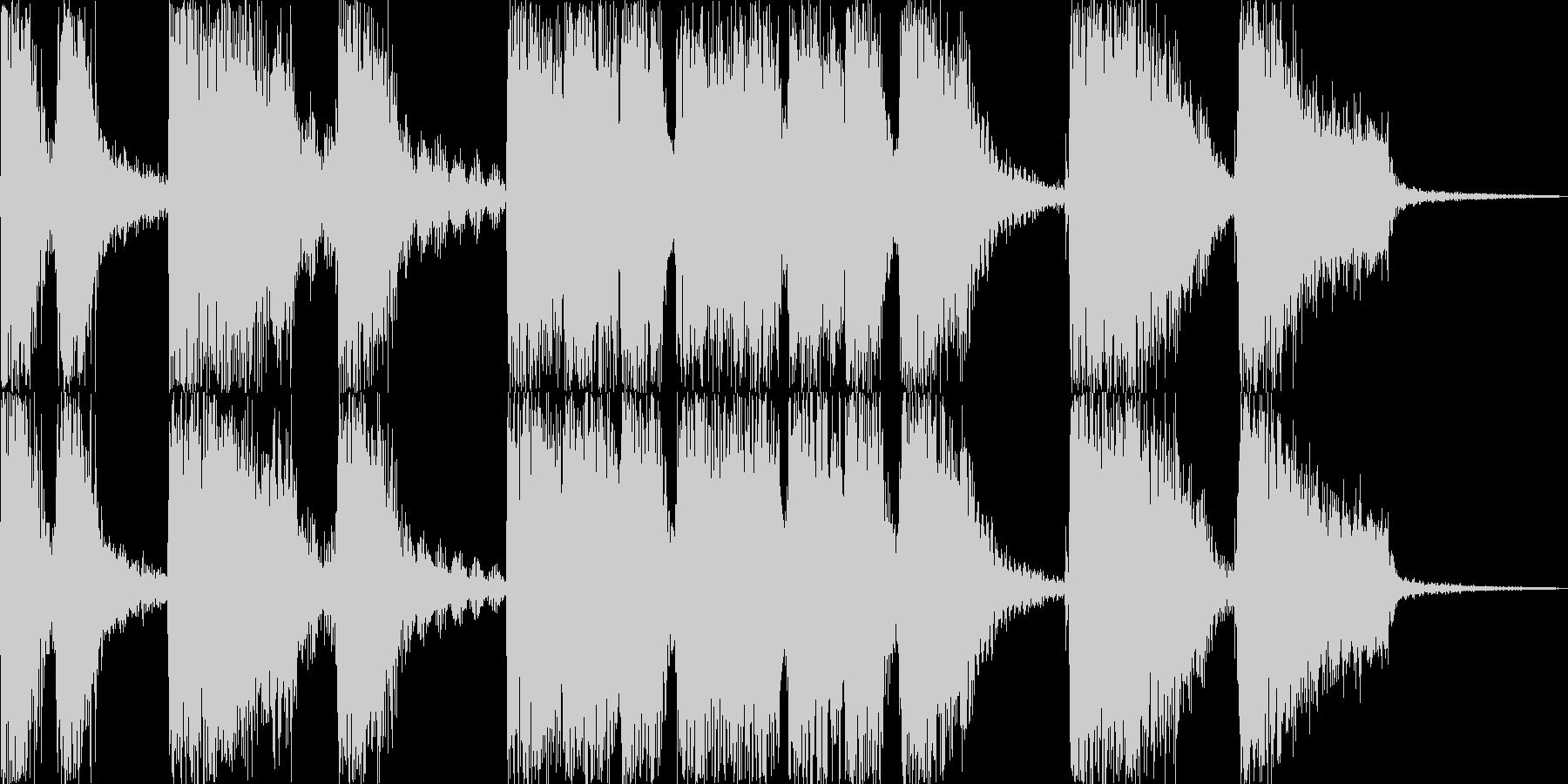 パワフルな場面転換ジングルの未再生の波形