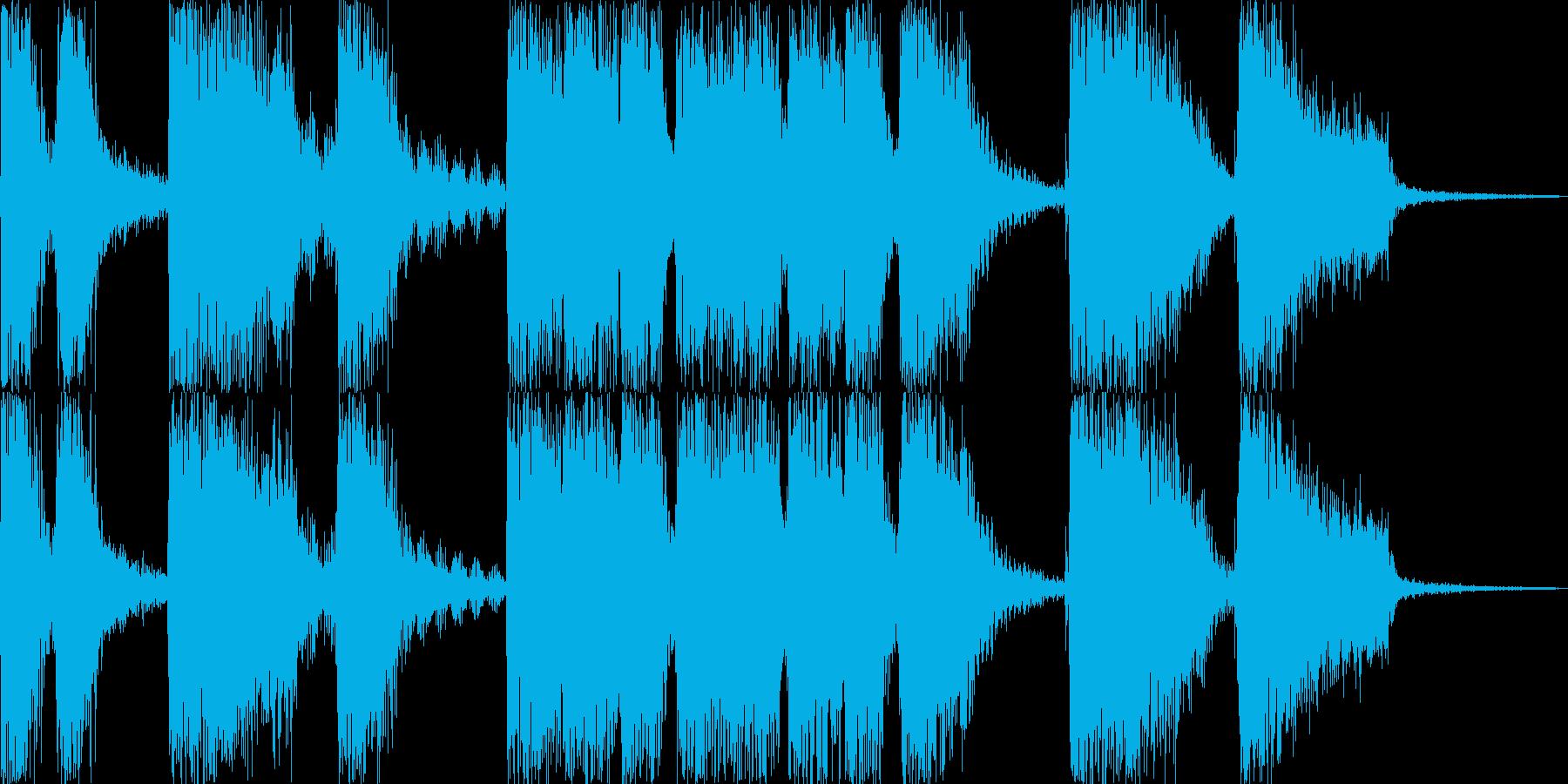 パワフルな場面転換ジングルの再生済みの波形