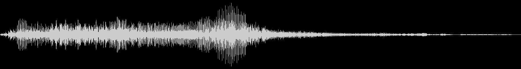 猫怒りの鳴き声の未再生の波形