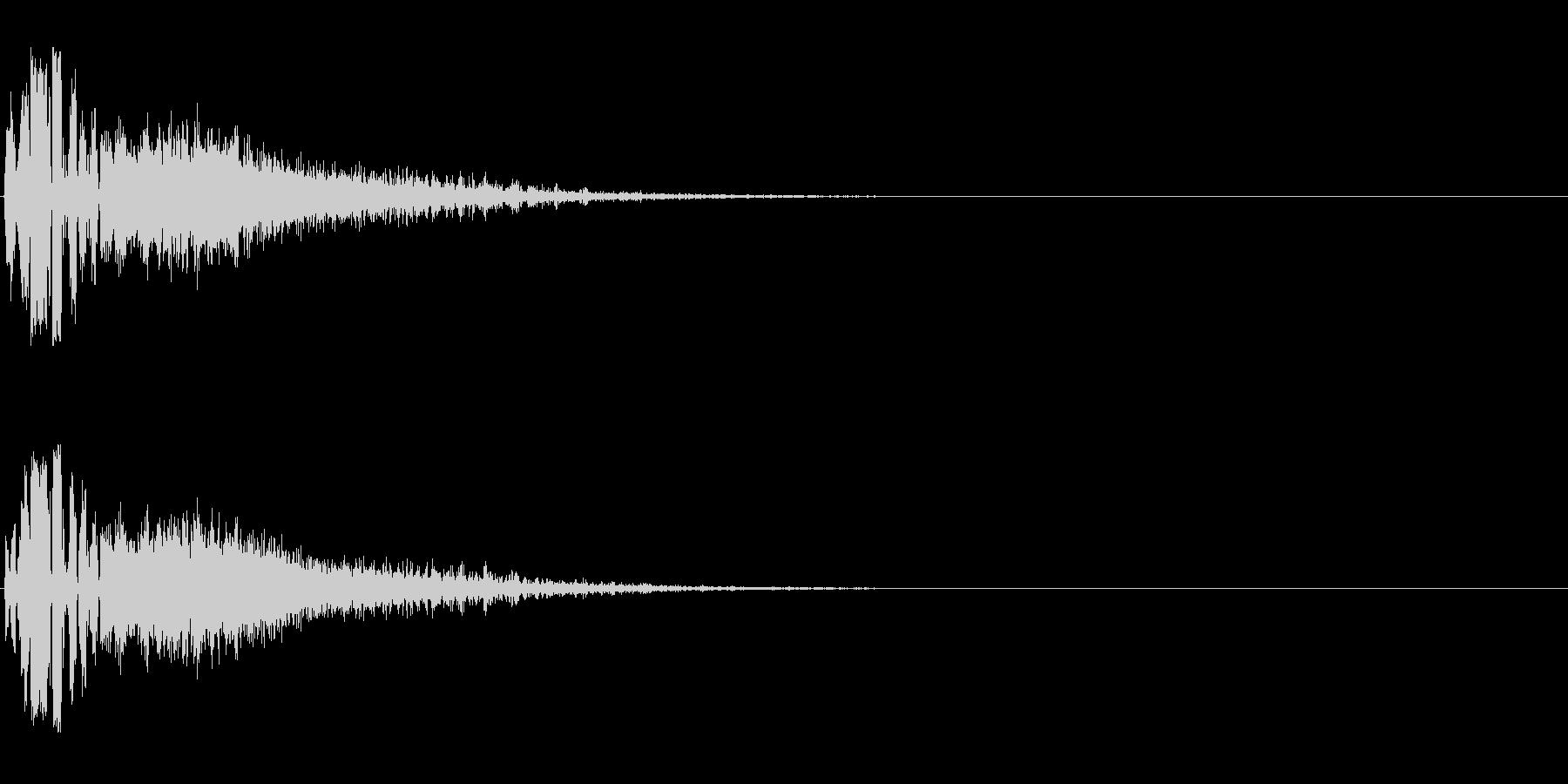 カッコいいFMラジオジングル効果音の未再生の波形