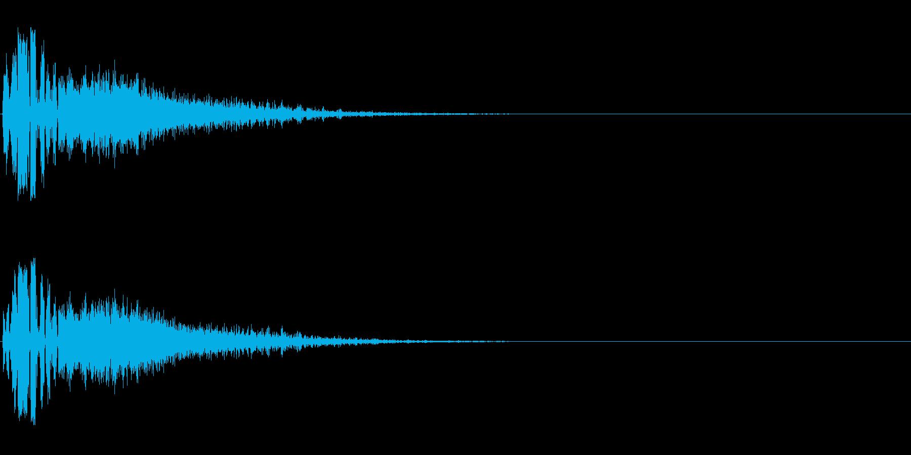 カッコいいFMラジオジングル効果音の再生済みの波形