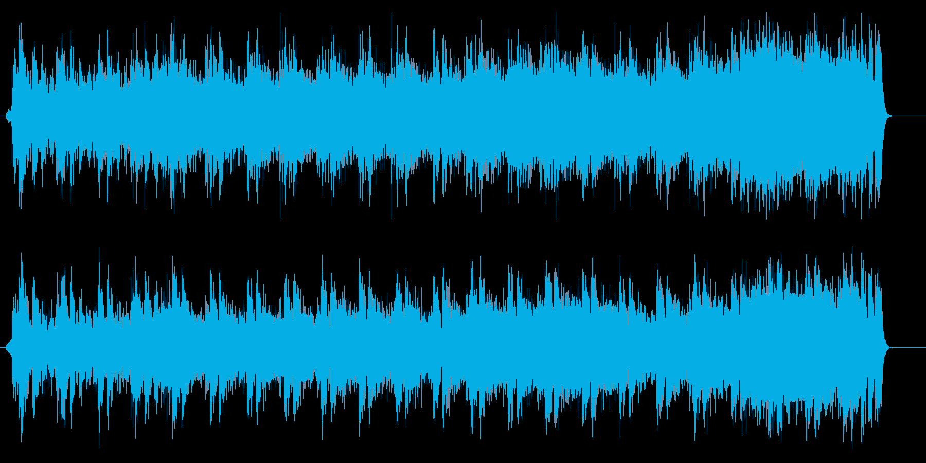 荘厳なハリウッド風エンドロールの再生済みの波形