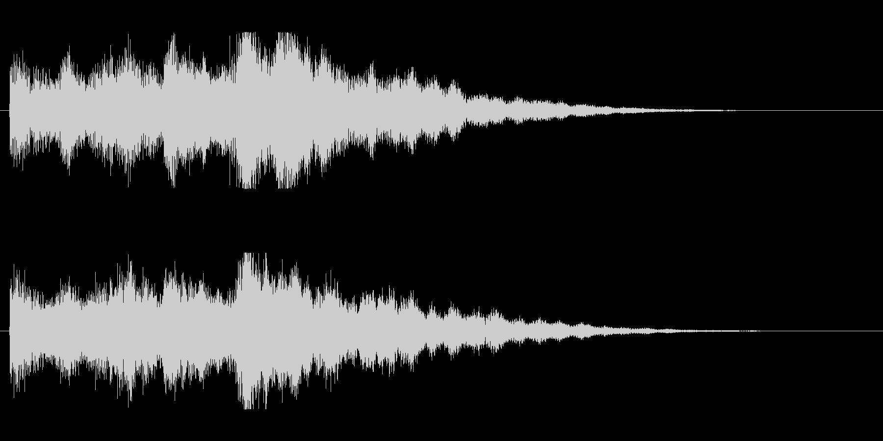 透明感のあるシンセベルの未再生の波形