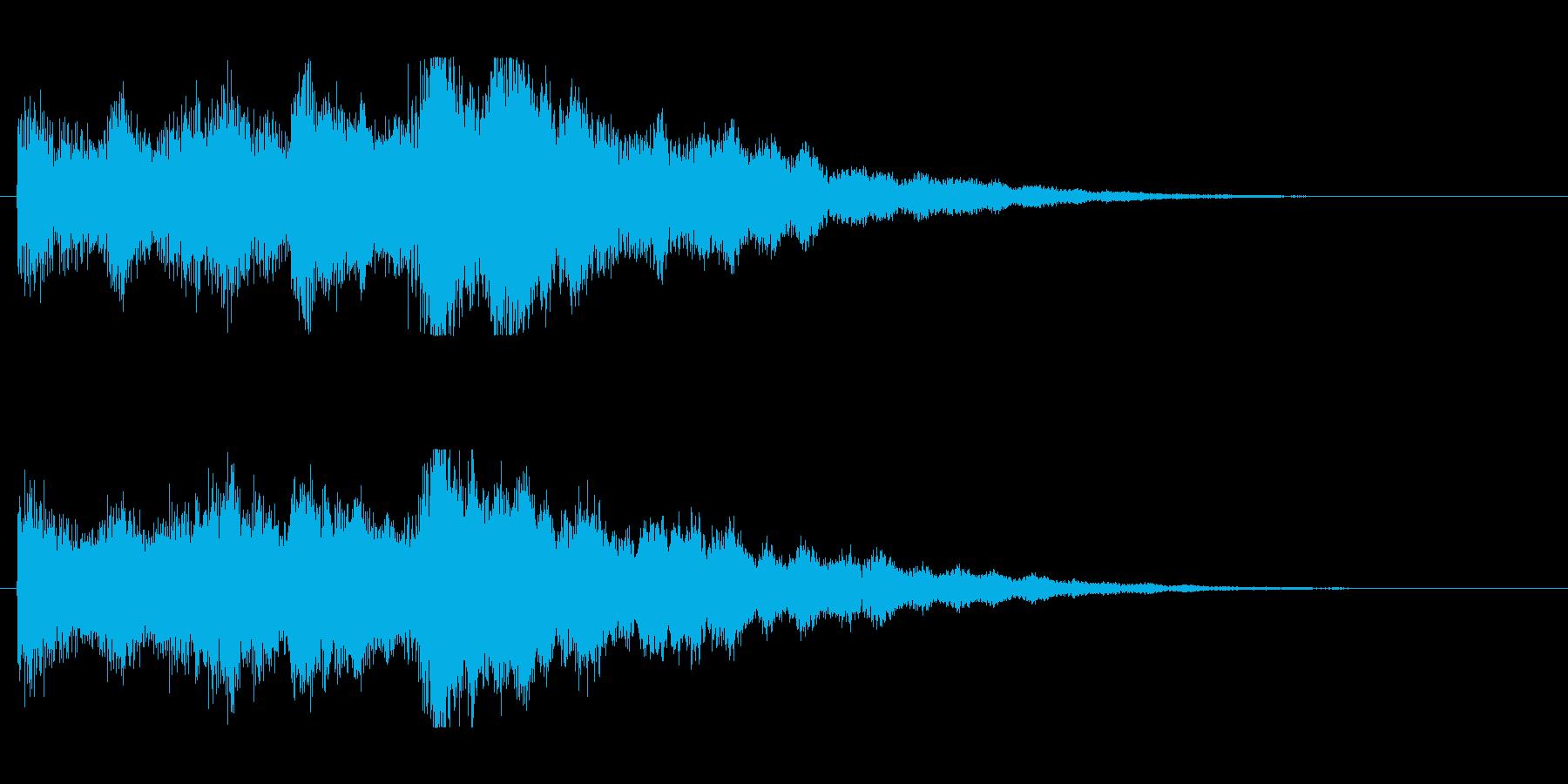 透明感のあるシンセベルの再生済みの波形