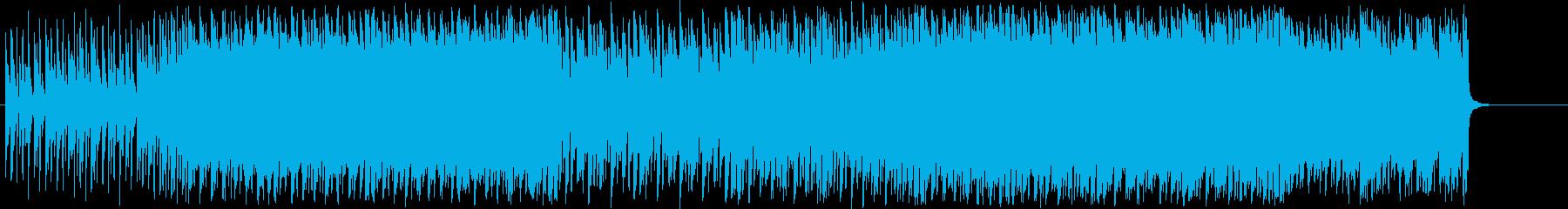 リズミカルで少しレトロなBGMの再生済みの波形