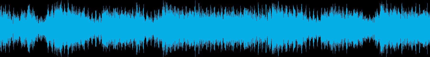 【ループD】ヘヴィーで攻撃的エレキギターの再生済みの波形
