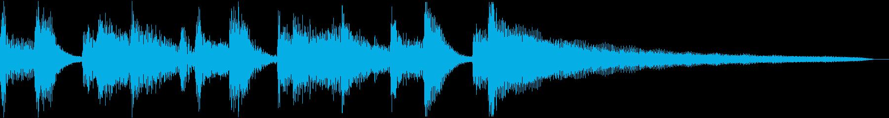 オシャレなジャズのジングルの再生済みの波形