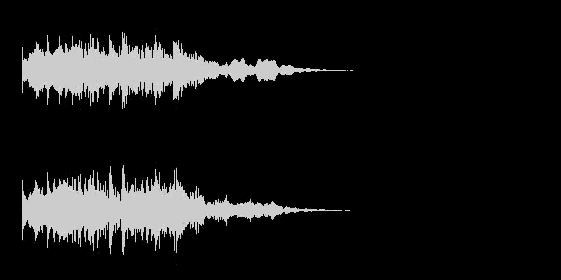 アコースティック・アルペジオのジングルの未再生の波形