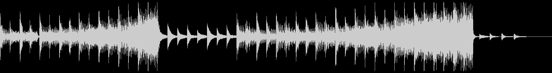 脈動するオーケストラトラックの未再生の波形