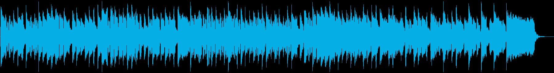 メルヘンチックなリコーダーとおもちゃ楽器の再生済みの波形