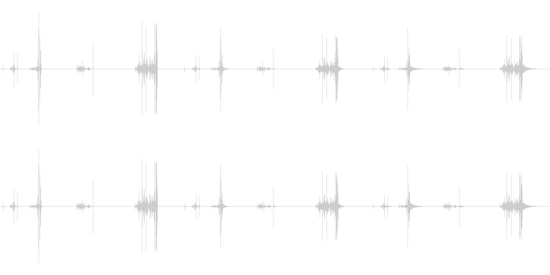 パワーコードリトラクション、2バー...の未再生の波形