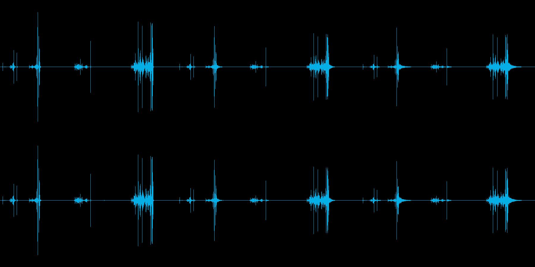 パワーコードリトラクション、2バー...の再生済みの波形