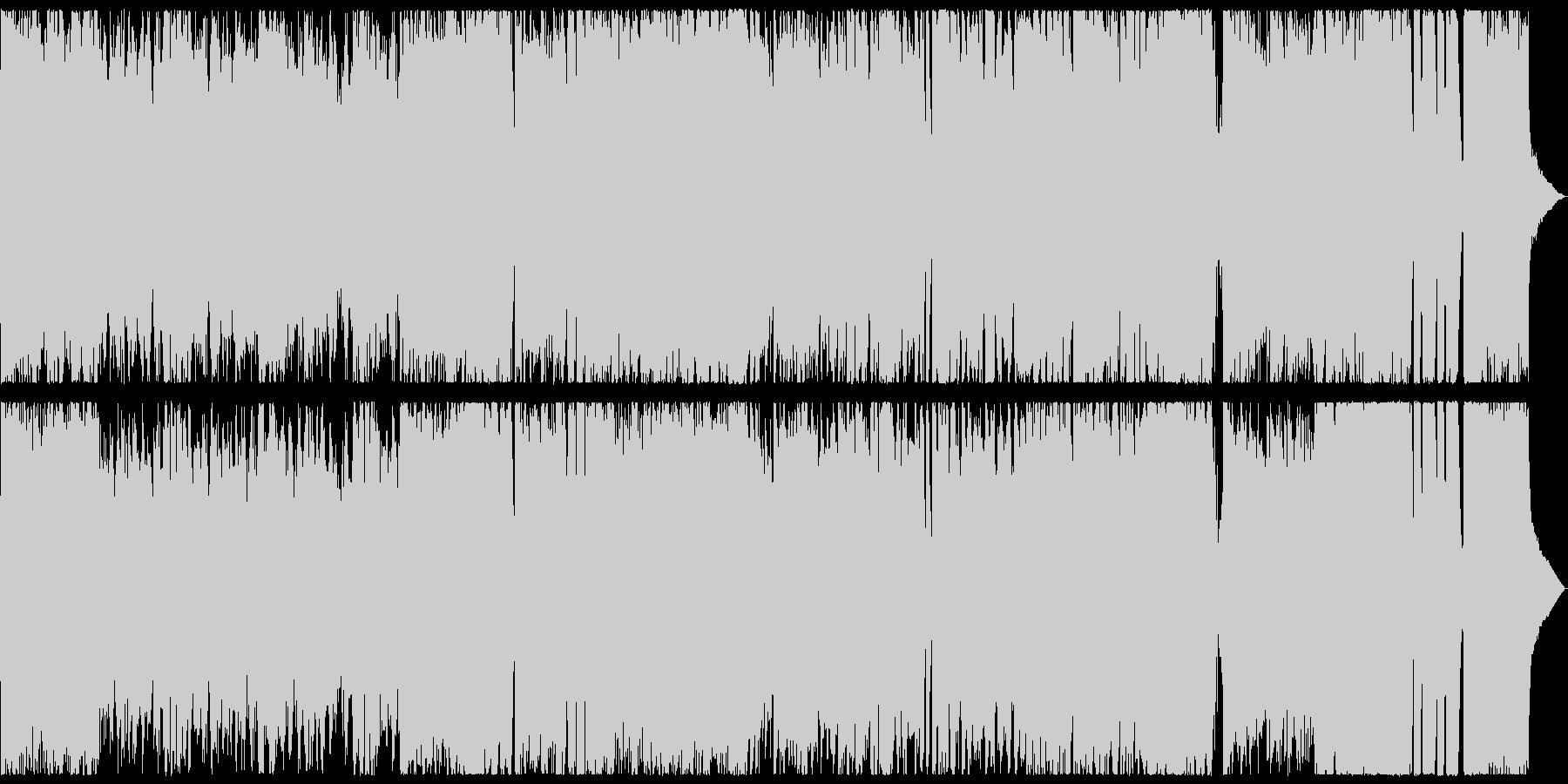 アニメ風の元気の良いBGMの未再生の波形