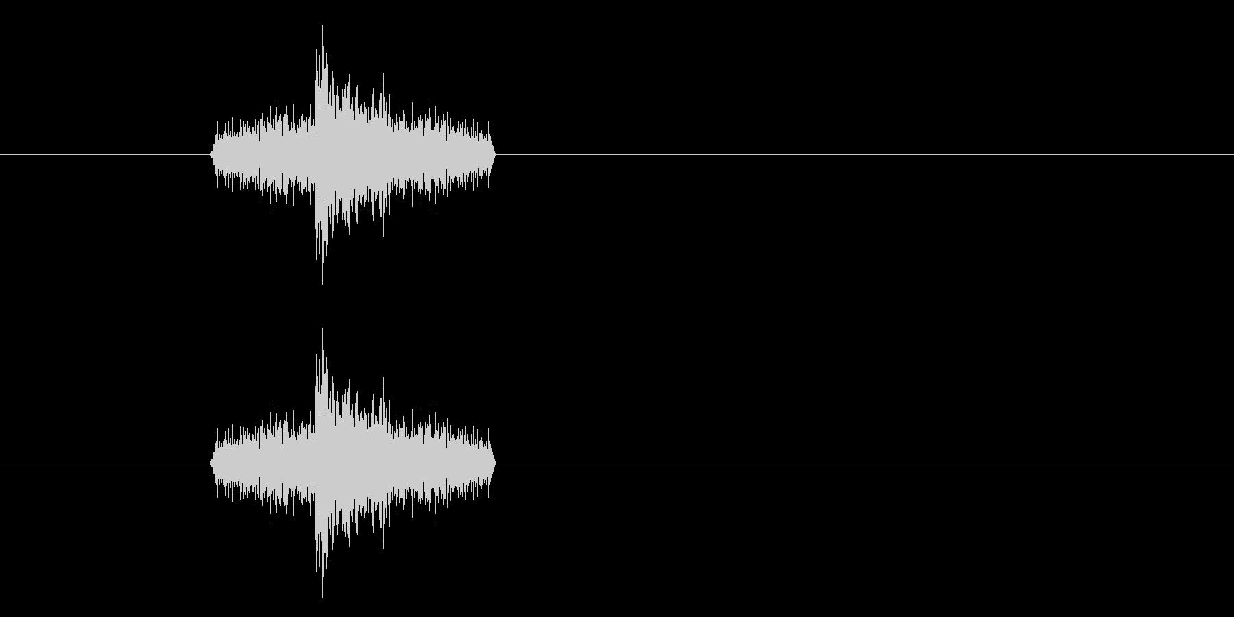 ジャン!リバースオケヒその1_音程高めの未再生の波形