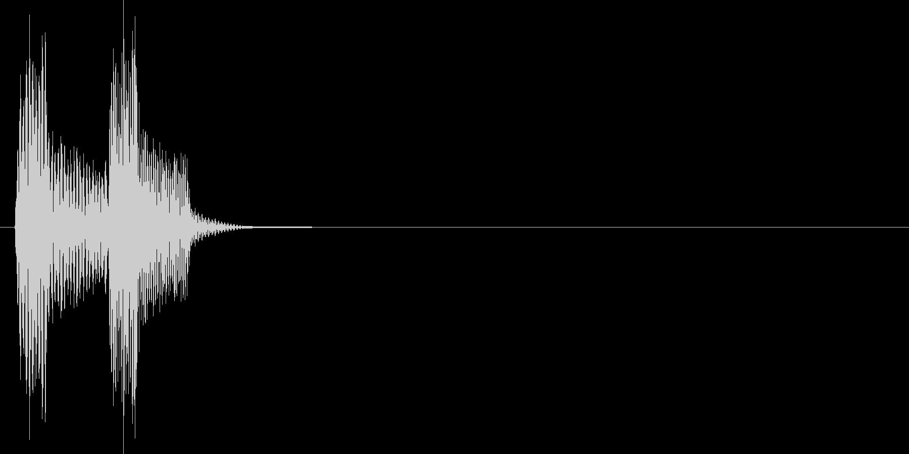 決定_タップ_クリック_200703の未再生の波形