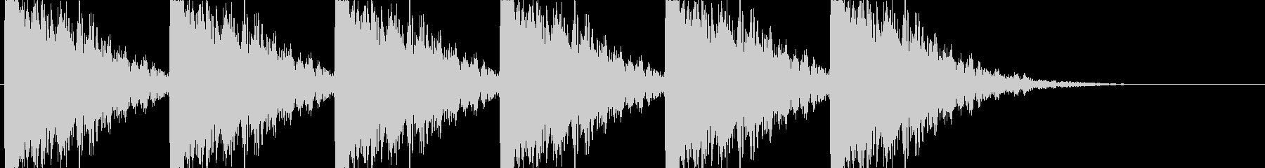ヒット ガンガン打ち付ける様な音の未再生の波形