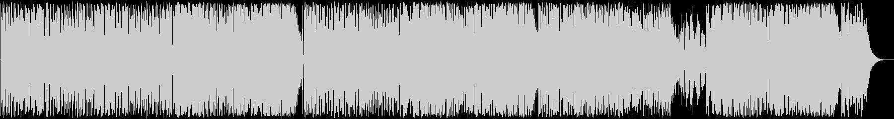 ボサノヴァ、お洒落でロック調BGMの未再生の波形